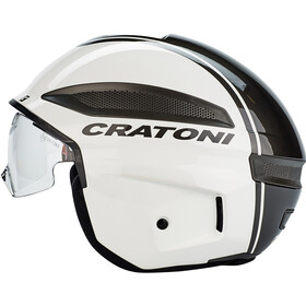 Cratoni Vigor Hjelm, white/glossy anthracite